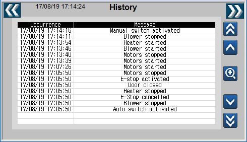 LE220 Sealer HMI History